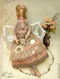Куклы Тильды ручной работы. Ярмарка Мастеров - ручная работа Эстель, кукла  в стиле Бохо. Handmade.