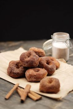 Baked Pumpkin Autumn Maple Doughnuts
