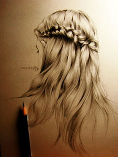 hair drawing