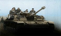 Operation Wacht am Rhein (Watch on the Rhine), starting on 16 December 1944 in the Ardennes. These are StuG III assault guns taking part in the initial assault.