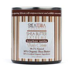 Shea Butter 30% Extreme Body Cre'me http://www.sheaterraorganics.com/100-Pure-Namibian-Marula-Oil-Wild-Harvested_p_65.html