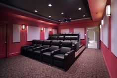 Media Room and Home Theater - traditional - media room - dc metro - by Rule4 Building Group