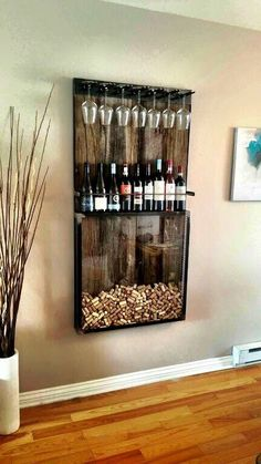 home bar 35 wine racks decorate your home life Creative wine r. - home bar 35 wine racks decorate your home life Creative wine racks in home life - Diy Kitchen Decor, Diy Home Decor, Room Decor, Home Decoration, Diy Home Bar, Kitchen Decorations, Decor Crafts, Christmas Decorations, Home Wine Bar