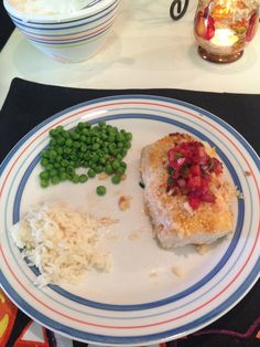 Macadamia Coconut Tilapia, with Strawberry Salsa