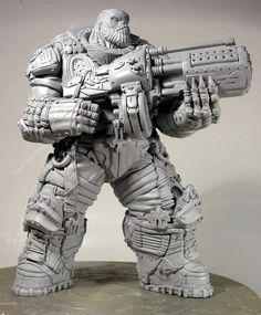 Gears of War Boomer prototype by ~alterton on deviantART