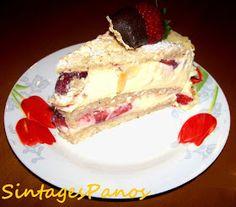 Ζαχαροπλαστική Πanos: Τούρτα με φράουλες Cheesecake, Breakfast, Desserts, Food, Morning Coffee, Tailgate Desserts, Deserts, Cheesecakes, Essen