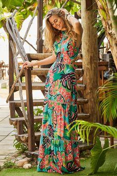 39bdacc59 LÖZZ, Vestidos estampados, Vestidos longos estampados, Vestidos longos,Moda  resort, Roupas