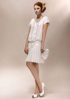 Robe de mariée courte, style années 20 - Louise 1920