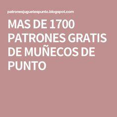 MAS DE 1700 PATRONES GRATIS DE MUÑECOS DE PUNTO