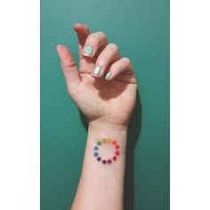 In love with my new color wheel tattoo. ♡ #miami #artnerd #artbasel  Instagram.com/beleek