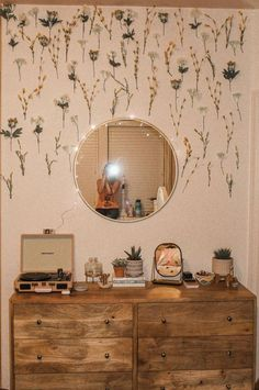 mirror - target flowers (fake)- hobby lobby crosley record player- urban out. - interior design - mirror – target flowers (fake)- hobby lobby crosley record player- urban outfitters small m - My New Room, My Room, Cute Room Decor, Flower Room Decor, Target Room Decor, Fake Flowers Decor, Bedroom Flowers, Target Bedroom, Bedroom Colours