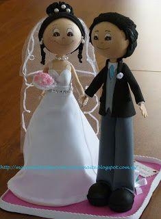 FOFUCHAS. Manualidades y Creaciones Maite: Fofuchos novios personalizados con traje boda