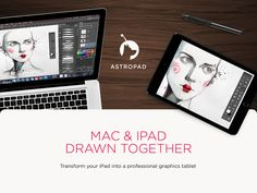 Transform your iPad into a professional graphics tablet. Use the Mac creative tools you know and love, like Photoshop, with the touch experience of your iPad.