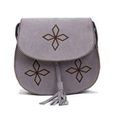 $13.00 Vintage Tassels and Bordered Design Women's Crossbody Bag