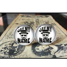 Say My Name Heisenberg Breaking Bad  Find us at these as well:  http://www.bonanza.com/booths/Kustom_Kufflinks  http://www.rebelsmarket.com/rebel-store/kustom-kufflinks