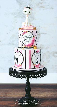 Le meow - Paris inspired cat cake