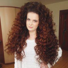 Long Red Hair, Super Long Hair, Long Curly Hair, Big Hair, Curly Girl, Curly Hair Care, Curly Hair Styles, Permed Hairstyles, Cool Hairstyles