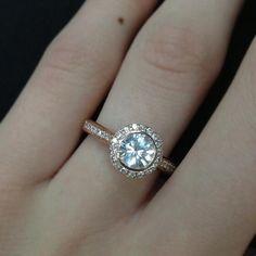 Rose gold wedding ring.