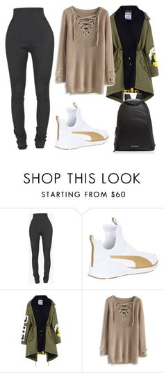"""Bez naslova #227"" by kylie-jenner-547 ❤ liked on Polyvore featuring Balmain, Puma, Moschino, Chicwish and Kendall + Kylie"