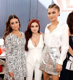 . Lea Michele Ariel Winter and Zendaya are three glam ladies who lunch.  (: Stefanie Keenan/Getty Images for Glamour) by eonline