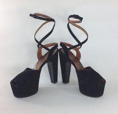 40s Platform Shoes 1940s High Heels Rare SKY HIGH Fetish Peep Toe