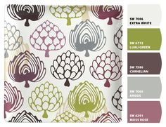 purple + green. These are the colors I want for Stella's room