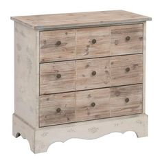 Rustic Natural 3-Drawer Chest | Kirklands