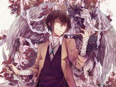 Dazai Osamu - Bungou Stray Dogs credit to the Artist: とりば. This is beautiful