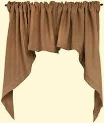 curtains with burlap and brown - Google Search