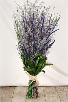 "Natural Preserved 23"" Lavender Caspia Bouquet $14 bridal shower"