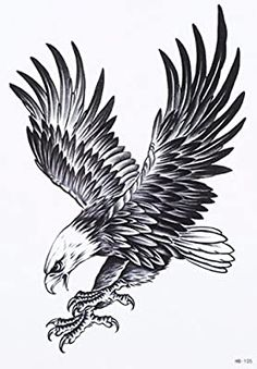 Eagle Bird Birds Animal Proud Temporary Tattoo Fake Tattoo 5 .- Eagle Bird Birds Animal Proud Temporary Tattoo Fake Tattoo inch Eagle Animal Bird Birds Temporary Temporary Adhesive Once Tattoo 15 x 21 cm from OneWeekTattoos on Etsy - Bird Tattoo Sleeves, Bird Tattoo Men, Fake Tattoo, Forearm Tattoo Men, Tiny Tattoo, Black Bird Tattoo, Sister Tattoos, Tattoos For Guys, Cool Tattoos