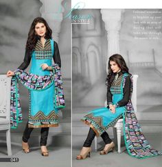 Trendy #BollyWood #Designer #Unstiched #Chanderi #Embroidery Cotton Salwar, Kameez