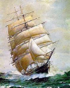 Корабль в море) - Схемы вышивки - Виктория - Авторы - Портал «Вышивка крестом»
