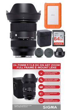 BUNDLE INCLUDES: Sigma 24-70mm f/2.8 DG DN Art Zoom Full Frame E-Mount Lens, LaCie Rugged Mini 1TB USB 3.0 External Hard Drive, and SanDisk 64GB Ultra UHS-I Class 10 SDXC Memory Card #lens #highqualitylens #photography #photographer #Photos #NewYorkCity #Amazon #amazonbestseller #cameralens #camera #cameras #PhotoOfTheDay #PhotoMode #bestlens #amazonproducts #amazonelectronics #electronics #photolover #photograpylover #marketing #digitalmarketing Lacie Rugged Mini, Amazon Electronics, Sony E Mount, Sd Card, Camera Lens, Digital Marketing, Usb, Frame, Cards
