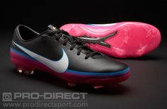 new products 4c771 b5b61 Nike Mercurial Vapor VIII CR FG Jnr Boots - Blk Wht Pink Blue