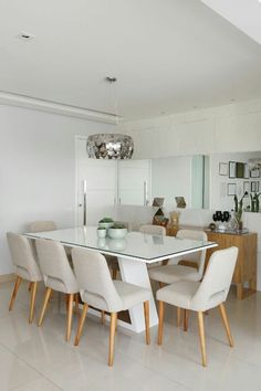 Glass Dining Table Set, Dinning Table, Dining Area Design, Dinner Room, Elegant Dining Room, Apartment Interior, Furniture Inspiration, House Rooms, Decoration