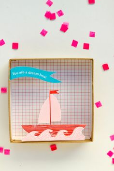 pop-up box valentines with free printable