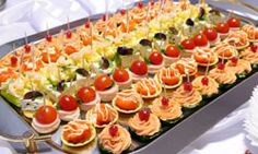 assorted appetizer trays look really good