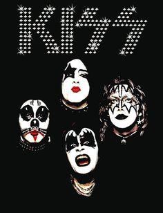 1 º álbum KISS reproducción superior pie pantalla