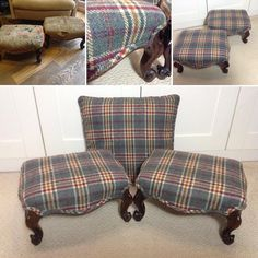 Stools, Tartan, Interiors, Throw Pillows, Storage, Bed, Instagram, Home, Benches