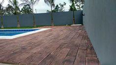 piso madeira ecologica deck de madeira de piso de cimento