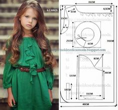 Trendy sewing patterns for baby clothes outfit ideas Baby Dress Patterns, Baby Clothes Patterns, Clothing Patterns, Frock Patterns, Fashion Kids, Old Dress, Little Girl Dresses, Girls Dresses, Dress Anak
