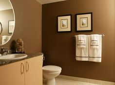 Bathroom Ideas Warm Small Paint Wall Colors Brown