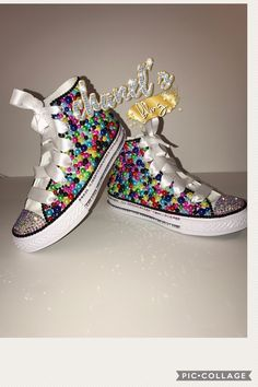 Custom bling converse all star chuck taylor sneakers embellished with high  quality rhinestones and pearls. 59e9bab3c