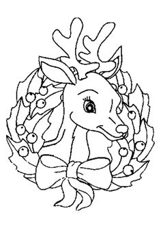 Printable Coloring Pages Of Christmas Reindeer Face   Printable Coloring  Pagesu2026