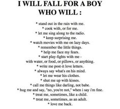 A man who will....
