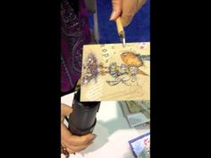 #CHA July 2012 #Stampendous New Products Demo - Background papers and #Encrusted Jewel Technique