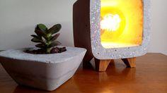 Decorative concrete lamp. Table lamp. Design. Concrete lamp. Vintage. Industrial. Lighting. Edison. Gift. Present. Lampe beton