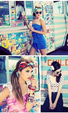 i swear.. i did a photo shoot in front of this same ice cream truck last year... how fuunnyyy.