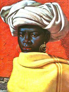 Swazi Girl by Vladimir Tretchikoff Black Art Painting, Painting & Drawing, Henry Miller, South African Artists, Black Artists, African American Art, Paintings I Love, Selling Art, Art Girl